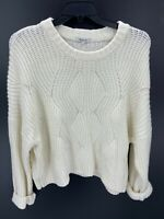 Madewell Classic Cable Knit Ivory Womens Pullover Knit Sweater Plus Size 3X