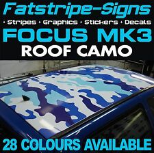FORD FOCUS MK3 ROOF CAMO GRAPHICS STICKERS STRIPES DECALS CAMOUFLAGE ST RS 2.0