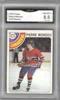1978-79 Topps #102 Pierre Mondou RC | Graded NM/MT+ | Montreal Canadiens