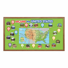 Around The Us Bulletin Board Set - Educational - 63 Pieces