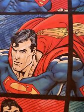 vintage Superman man of steel full set 2pillow Case Fitted And Flat Sheets