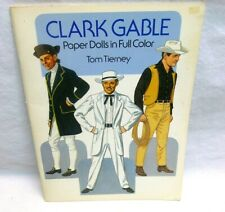 Vtg Clark Gable Paper Doll Toy Book Uncut Full Color Reproduction