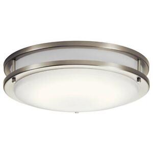 KICHLER Avon 14 in. Brushed Nickel Integrated LED Flush Mount Ceiling Light