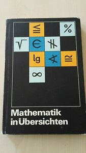 Mathematik in Übersichten Volk Wissen 1980 Lehrstoff Klasse 1-10 Wissensspeicher