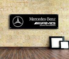 Mercedes Amg Sign Vinyl Banner Flag  Garage Workshop Adversting Many Size