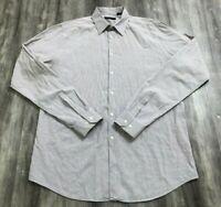 THEORY Burgundy White Plaid Checkered Long Sleeve Button Down Shirt L 16.5
