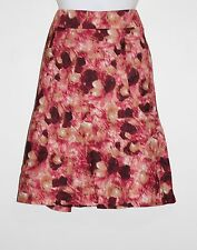 New Ann Taylor Multi Colored Water Color A Line Skirt Size: 8 NWT 100% Cotton