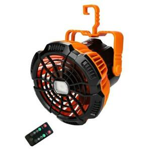 USB Rechargeable Camping Fan with LED Lantern Remote Control Timing Hanging Fan