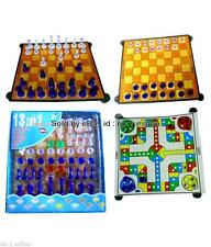 13 in 1 Family Board Games Ludo , Chess, Checker, Snakes & Ladders , Tictactoe