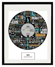 QUEEN - MEMORABILIA - FRAMED ART POSTER PRINT - Ltd Edition - An Ideal Gift
