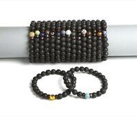Natural Stone Beaded Bracelets Beads Lava Homme Fashion Bangle Bracelet Jewelry