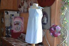 robe neuve bout'chou 2 ans carreaux bleu ciel blanc noeud epaule ideale ete