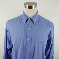 Polo Ralph Lauren Mens Cotton Yarmouth LS Button Down Blue Dress Shirt 17-34