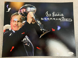 Bill Belichick Signed 11x14 Photo Autographed New England Patriots Jsa Certfied