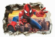 Spiderman Wall Decal Sticker 3D Mural Childs Bedroom Nursery Easy Peel & Stick