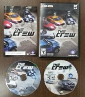 The Crew - PC DVD Rom 2014 Ubisoft Computer Game Online Car Race Drive - 2 Discs