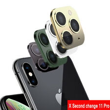 Fake Camera Sticker for iPhone X XS MAX Seconds Change to iPhone 11 Pro Max De