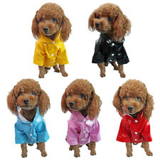 Raincoat Waterproof Pets Dog Clothes Puppy Cat Jacket Hoodies Hooded Costume