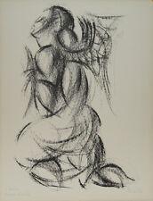 Isa PIZZONI-Lithographie originale signée-L'ange
