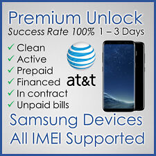 AT&T ATT PREMIUM FACTORY UNLOCK CODE FOR SAMSUNG GALAXY S8 S7 S6 S5 S4 S3 NOTEs