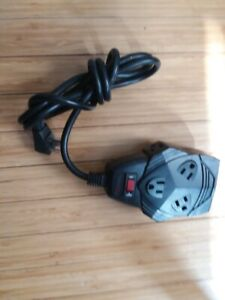 LOT OF 2 FELLOWES 8 PORT 6 ft SURGE PROTECTOR  99090 POWER STRIP, Clean