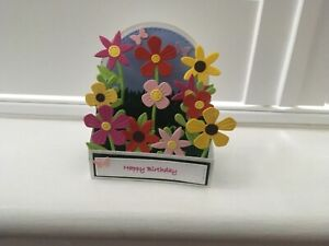 Handmade card pop up Window box flower card.