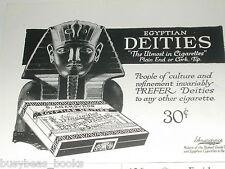 1920 Egyptian Deities CIGARETTES advertisement, S. Anargyros, sarcophagus