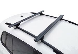 Alloy Roof Rack Cross Bar for Volvo XC90 2003-15 120cm Lockable Black
