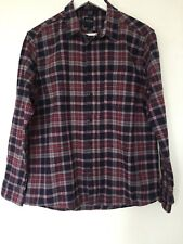 Men's Lumber Jack Style Shirt Red Blue Check Size L