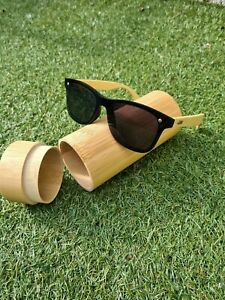 Bamboo Sunglasses Polarised Uv400 With Wooden Case Tube
