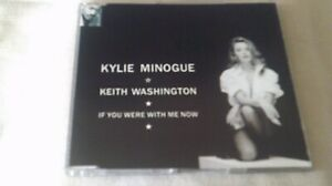 KYLIE MINOGUE / KEITH WASHINGTON - IF YOU WERE WITH ME NOW - CD SINGLE DAMAGED