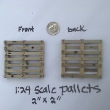 "1:24 Pallet 2"" x 2""  Narrow Board Handcrafted Dollhouse Miniature Train"