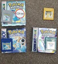 Juegos De Pokemon Gameboy, En Caja; Azul, Plata, Cristal Y Amarillo (Sin Caja)