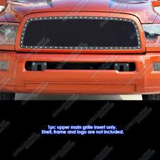 Fits 2010-2012 Dodge Ram 2500/ 3500 Stainless Black Rivet Mesh Grille