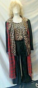 Rod Stewart Fancy Dress Costume Great Quality L-XL