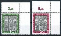 Bund MiNr. 139-40 Eckrand or postfrisch MNH (O6120