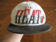 vintage miami heat ballcap snap back this is a hardwood classics size is med/lar