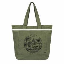 Roxy Beach Bag Tote Swim Green Style All Along Zip Closure BNIB