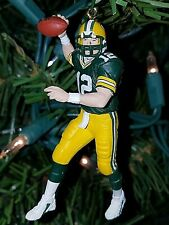 Aaron Rodgers Green Bay Packers Football NFL xmas Ornament Holiday vtg Jersey 12