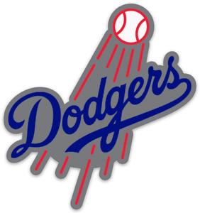 Los Angeles Dodgers Shooting Baseball & Dodgers Script Logo Type Die-cut MAGNET