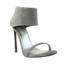 Stuart Weitzman Showgirl Women's Silver Ankle Cuff Sandal Sz 8.5 M