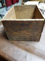10 X 14 X 18.75 Wooden Bush Beans Crate Antique Baltimore MD