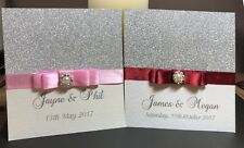25 Personalised Glitter Wedding Invitations from the Sparkly Collection -