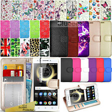 For Lenovo K8 Note XT1902  Wallet Leather Case Cover + Screen Protector