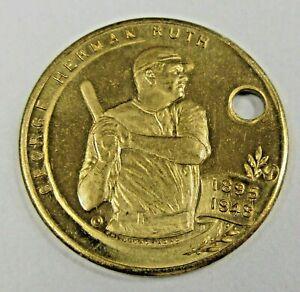 1948 BABE RUTH memorial Cardinal Spellman coin medal key chain fob hi-grade