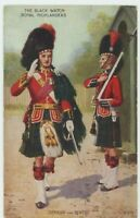 The Black Watch Officer & Sentry Valentines A452 Military Art Postcard, B952