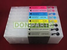 8x 300ml Refillable Ink Cartridges For Stylus Pro 7880 9880 CISS NEW