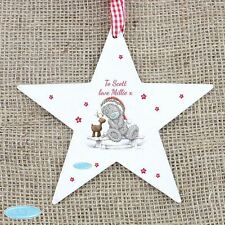 Me To You Personalised Wooden Star Christmas Decoration Tatty Teddy
