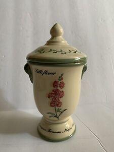 Waverly Floral Vase/Jar With Lid Decorative