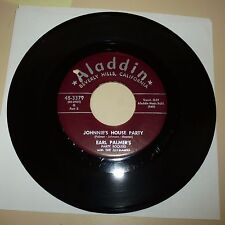 R&B DANCER 45 RPM RECORD -EARL PALMER'S PARTY ROCKERS W/ JAYHAWKS - ALADDIN 3379